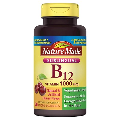 Vitamins & Supplements: Nature Made Sublingual B12 Micro-Lozenges