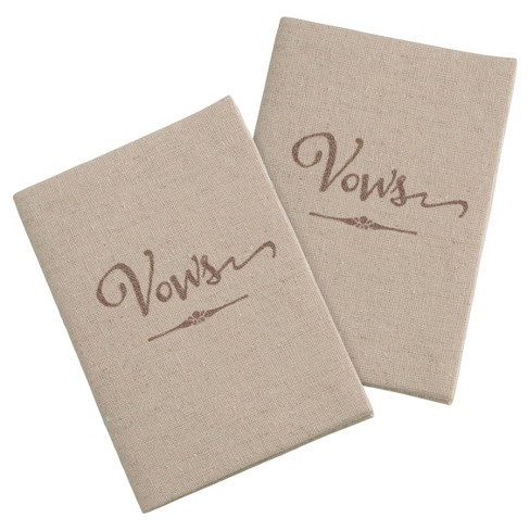 2ct Tan Vows Books - image 1 of 2