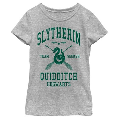 Girl's Harry Potter Slytherin Quidditch Team Seeker T-Shirt