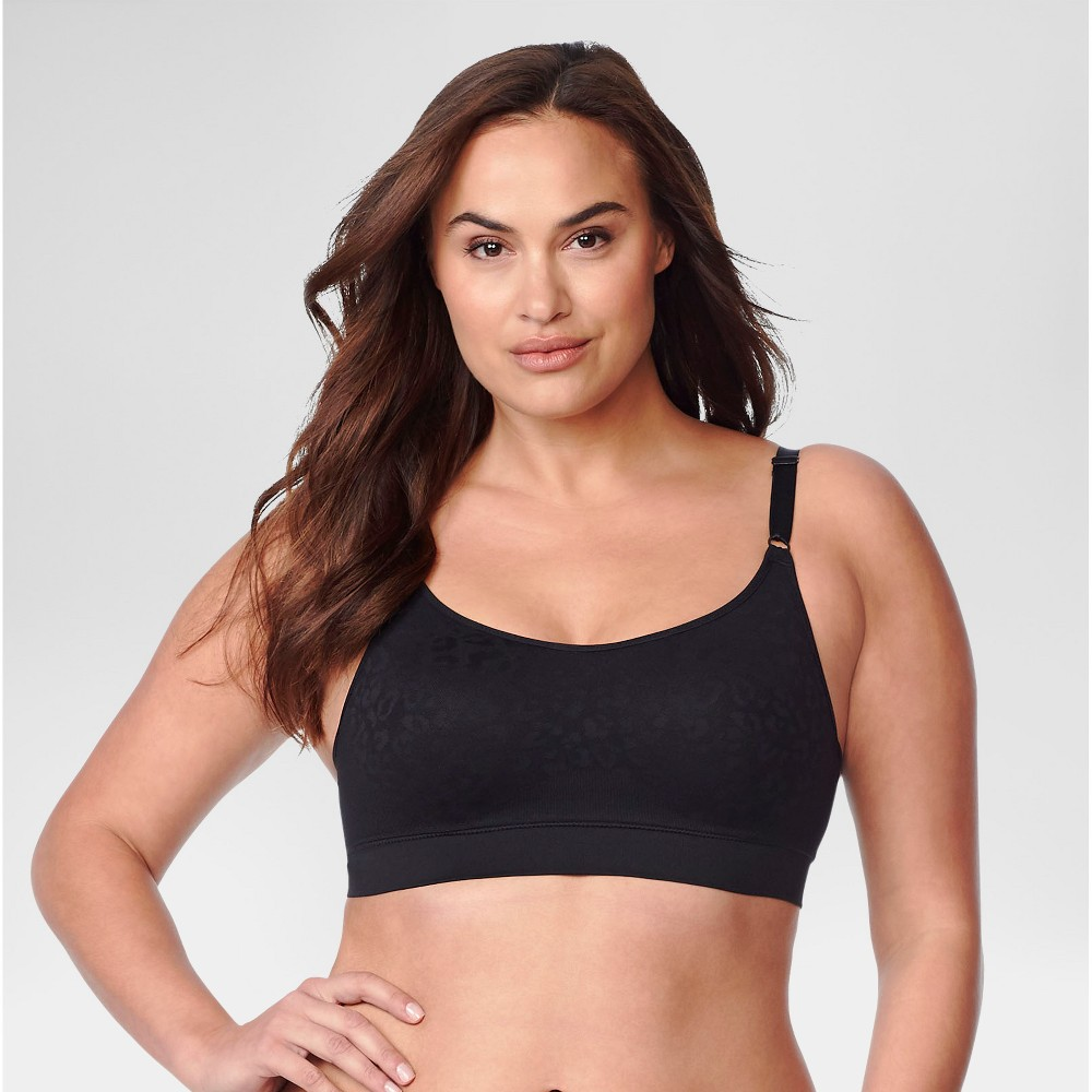 Simply Perfect by Warner's Women's Full Figure Seamless Wirefree Comfort Band Contour Bra - Black XL