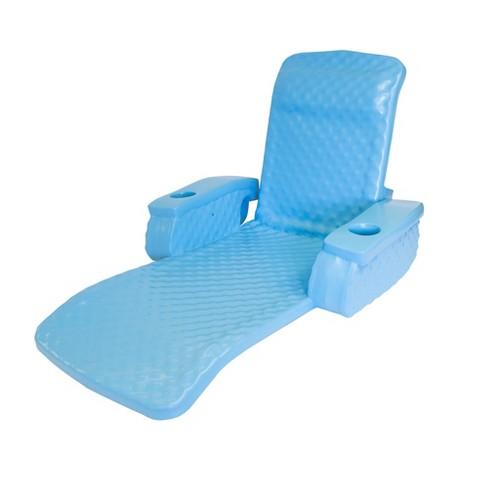 TRC Recreation Super Soft Baja II Swimming Pool Folding Foam Lounge Float, Blue - image 1 of 2