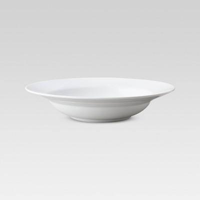 Porcelain Rimmed Pasta Bowl 16oz White Set of 4 - Threshold™