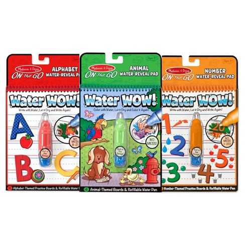 Melissa & Doug On the Go Water Wow! Activity Book, 3-Pack - Animals, Alphabet, and Numbers - image 1 of 4