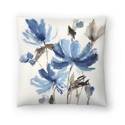 Americanflat Blissful Blue by Pi Creative Art Throw Pillow