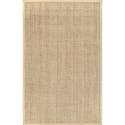 nuLOOM Hesse Checker Weave Seagrass Indoor/Outdoor Area Rug