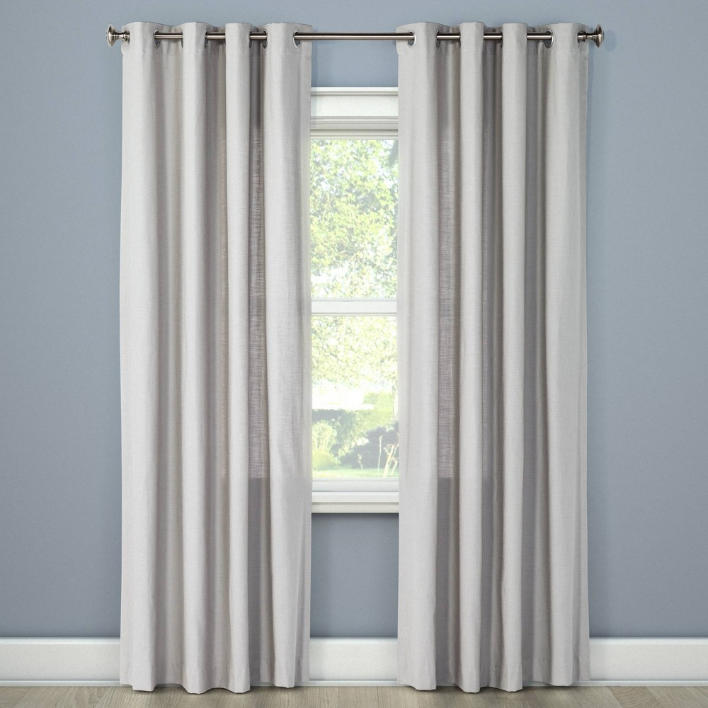 108x54 Natural Solid Light Filtering Curtain Panel Gray - Threshold was $19.99 now $9.98 (50.0% off)