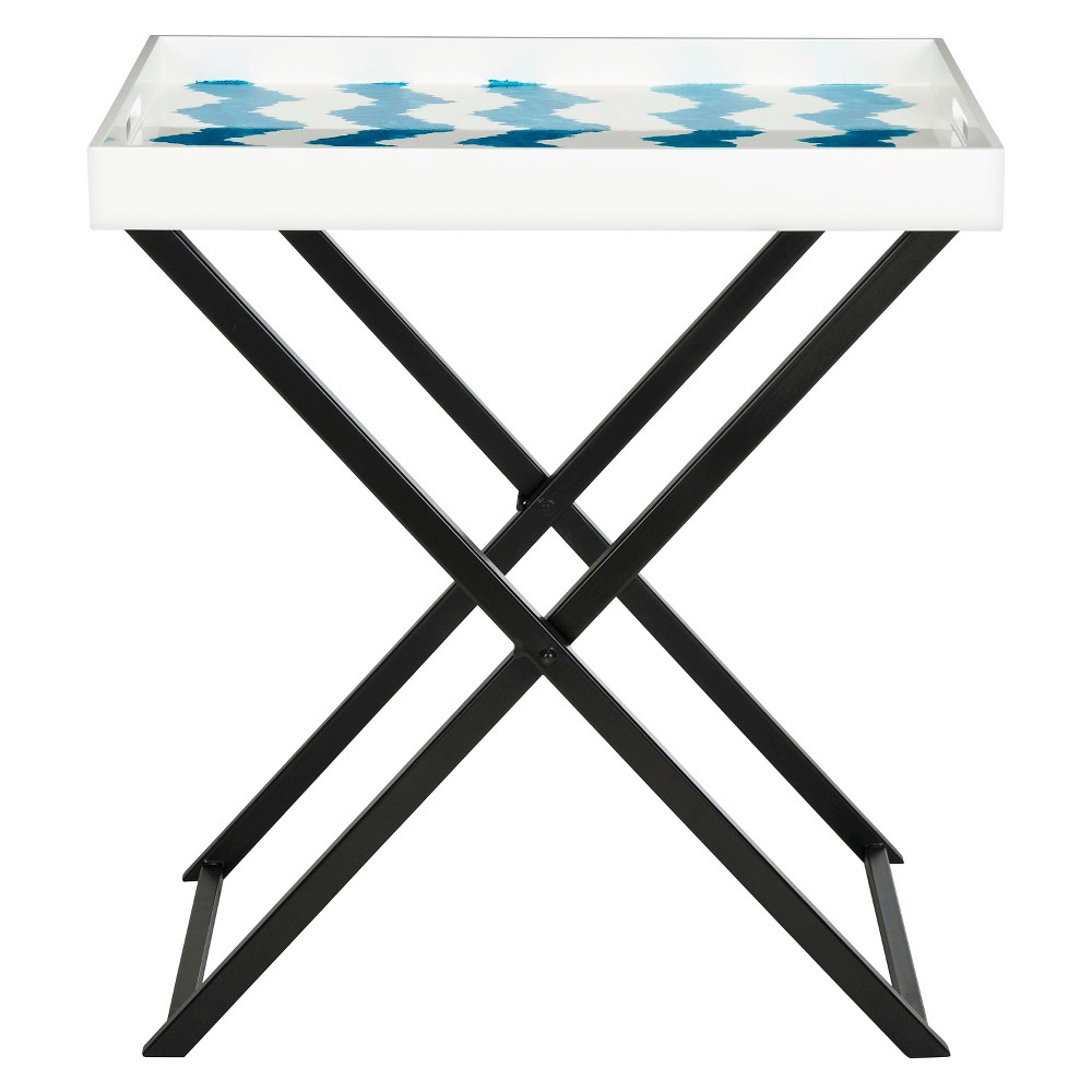 Image of Abba Tray Table Blue/White - Safavieh, Blue White