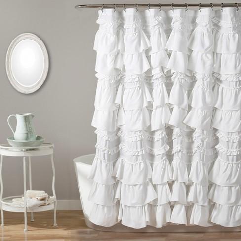 Kemmy Shower Curtain White