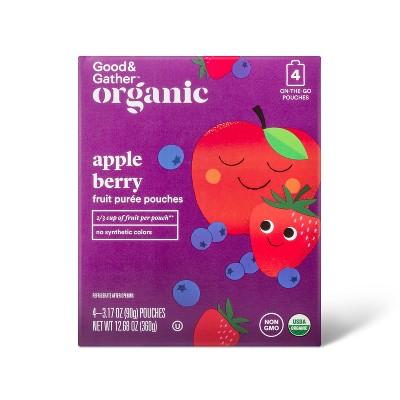 Organic Applesauce Pouches - Apple Berry - 4ct - Good & Gather™
