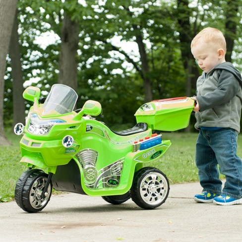 Lil' Rider 3 Wheel Battery Powered FX Sport Bike - Green - image 1 of 2