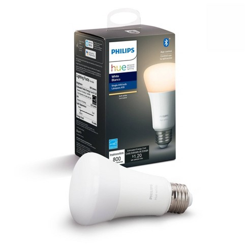 Philips Hue A19 60W Smart LED Bulb White - image 1 of 4
