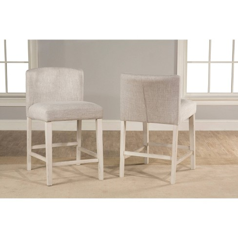 Brilliant Clarion Nonswivel Wing Arm Counter Height Stool Set Of 2 Sea White Hillsdale Furniture Machost Co Dining Chair Design Ideas Machostcouk
