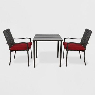 Halsted 3pc Patio Bistro Set Red - Threshold™