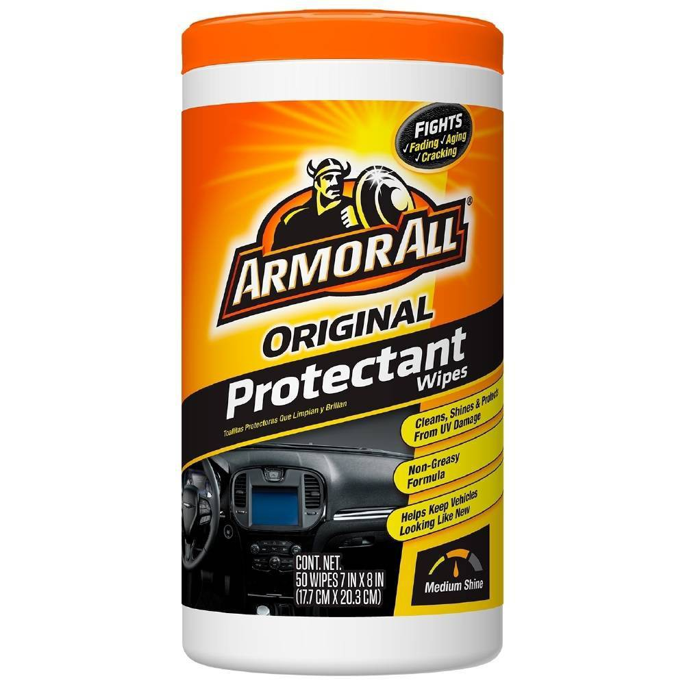 Armor All 50ct Original Protectant Wipes Automotive Protector