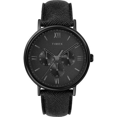 Men's Timex Southview Watch with Leather Strap - Black TW2T35200JT - image 1 of 3