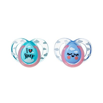 Tommee Tippee 2pk Night Time Pacifiers 6-18 Month - Blue