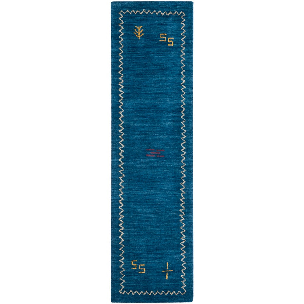 Best Price 23X14 Loomed Tribal Design Runner Rug Blue Safavieh