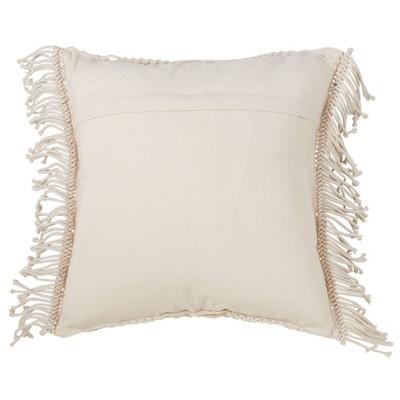 """18""""x18"""" Macramé Down Filled Square Throw Pillow - Saro Lifestyle : Target"""