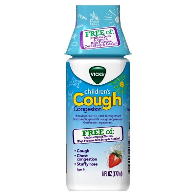 Cold & Flu: Vicks Children's Cough & Congestion Liquid