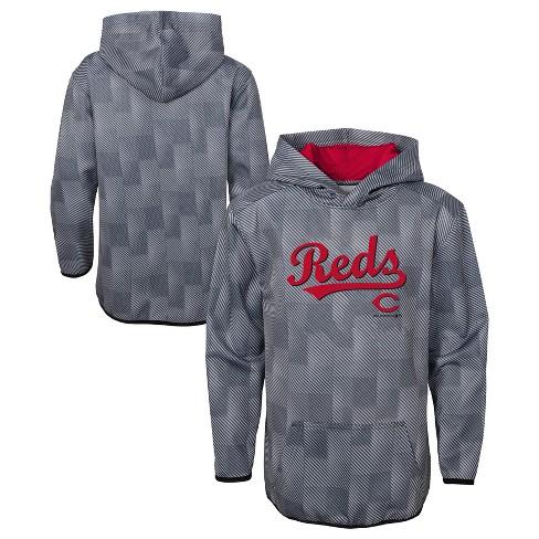 MLB Cincinnati Reds Boys' First Pitch Gray Poly Hoodie - image 1 of 3