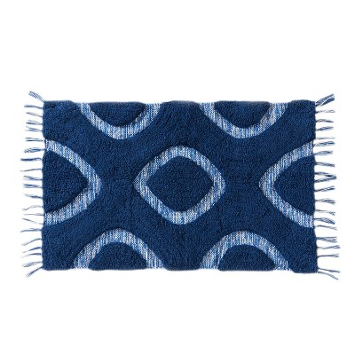 20  x 30  Kali Diamonds bath rugs and mats Midnight Blue - Saturday Knight Ltd.