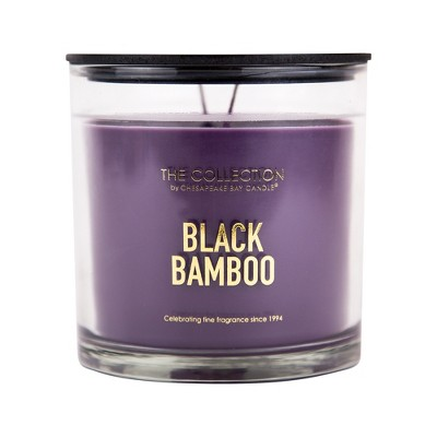 13oz Glass Jar 2-Wick Candle Black Bamboo - The Collection By Chesapeake Bay Candle