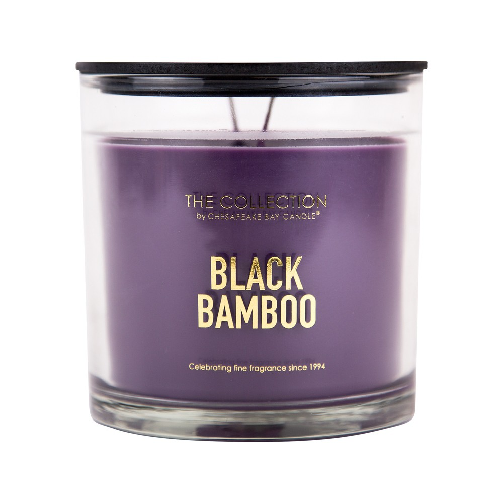 Image of 13oz Glass Jar 2-Wick Candle Black Bamboo - The Collection By Chesapeake Bay Candle, Purple