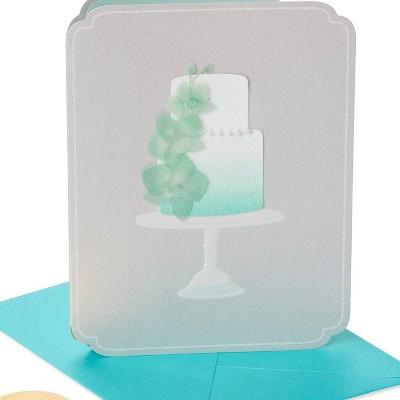 Elegant Orchid Cake Wedding Greeting card - PAPYRUS
