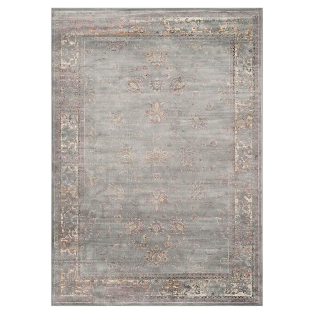 Matilde Vintage Inspired Rug - Gray / Multi (8'X11') - Safavieh, Gray/Ivory