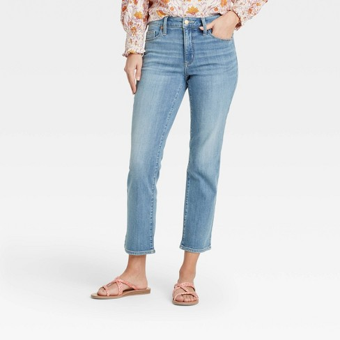Women's High-Rise Slim Straight Fit Cropped Jeans - Universal Thread™ - image 1 of 1