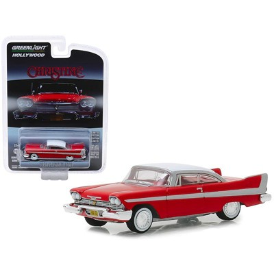 """1958 Plymouth Fury Red with White Top """"Christine"""" (1983) Movie """"Hollywood Series"""" 1/64 Diecast Model Car by Greenlight"""