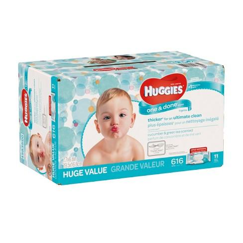 huggies one done baby wipes cucumber green tea 616ct target