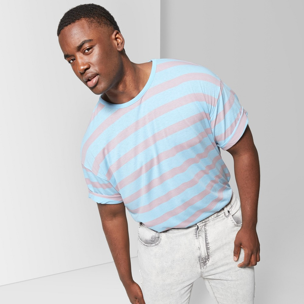 Men's Big & Tall Striped Short Sleeve T-Shirt - Original Use Sugar N' Spice 3XB