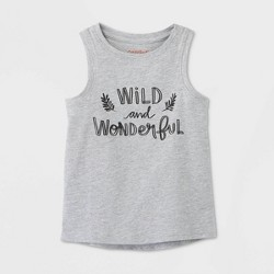 Toddler Girls' Wild and Wonderful Graphic Tank Top - Cat & Jack™ Gray