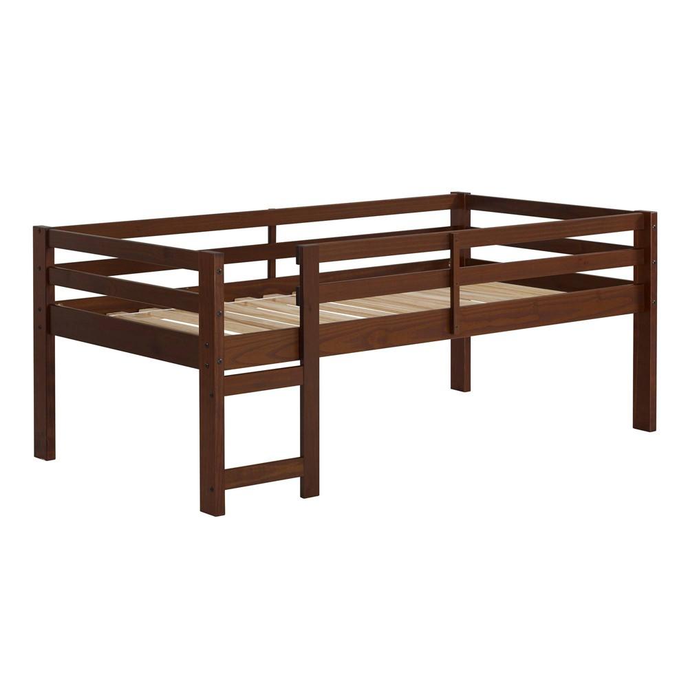 Solid Wood Low Loft Bed Walnut (Brown) - Saracina Home