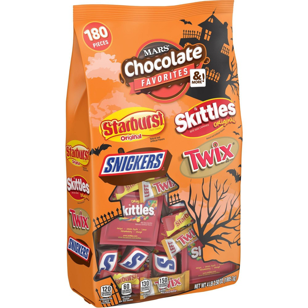 Skittles, Starburst, Twix and Snickers Halloween Variety Bag - 66.5oz