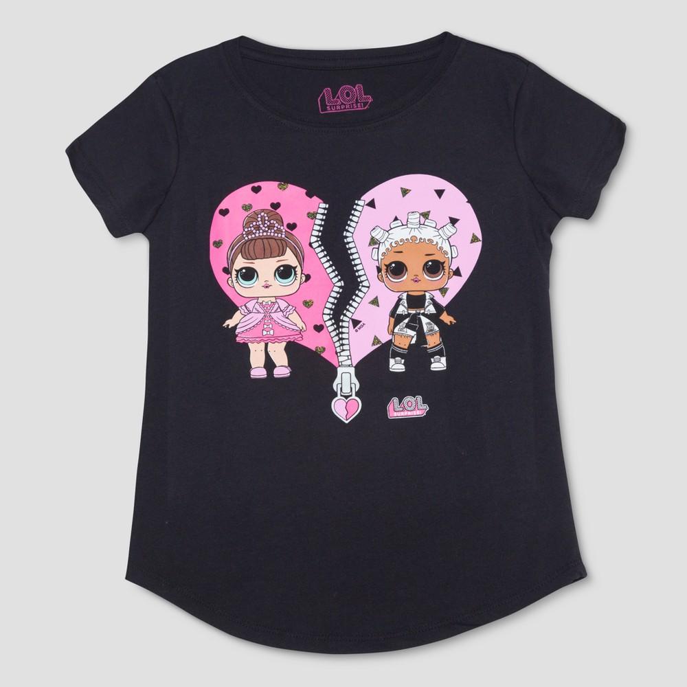 Plus Size Girls' L.O.L. Surprise! Short Sleeve T-Shirt - Black XL Plus
