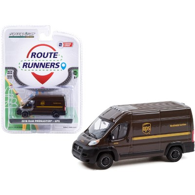 """2018 Ram ProMaster 2500 Cargo High Roof Van Brown """"United Parcel Service"""" (UPS) """"Route Runners"""" 1/64 Diecast Model by Greenlight"""