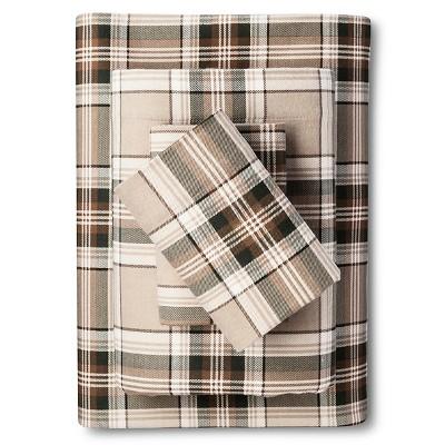 Twin Flannel Sheet Set Plaid Pine Edgewood Plaid - Eddie Bauer