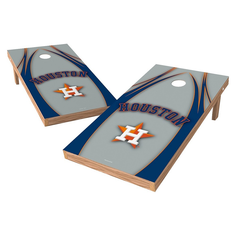 Houston Astros Wild Sports XL Shield Logo Cornhole Bag Toss Set - 2x4 ft.