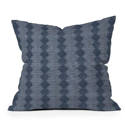 "16""x16"" Little Arrow Design Co Diamond Mud Cloth Square Throw Pillow - Deny Designs"