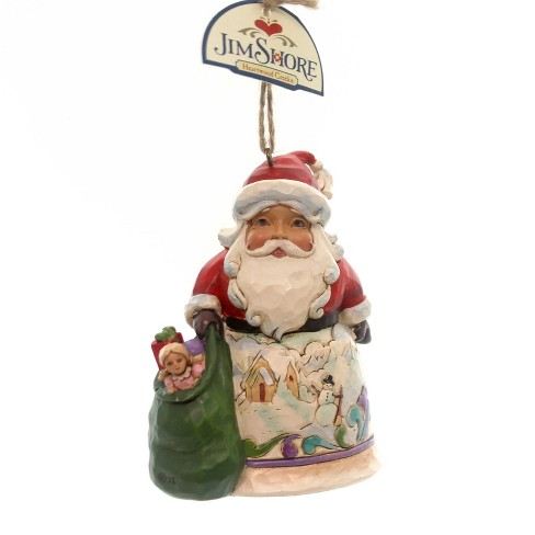 Jim Shore Santa/Winter Scene Ornament Christmas Toy Bag - image 1 of 2