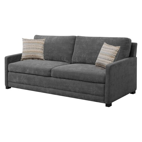 Shelby Queen Size Sleeper Sofa in Medium Gray - Serta