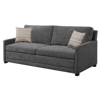 Shelby Queen Size Sleeper Sofa In Medium Gray   Serta