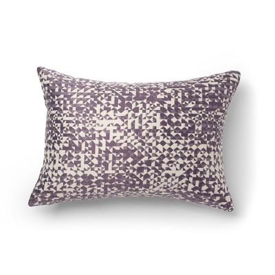 "14""x20"" Moria Jacquard Decorative Throw Pillow Purple - SureFit"