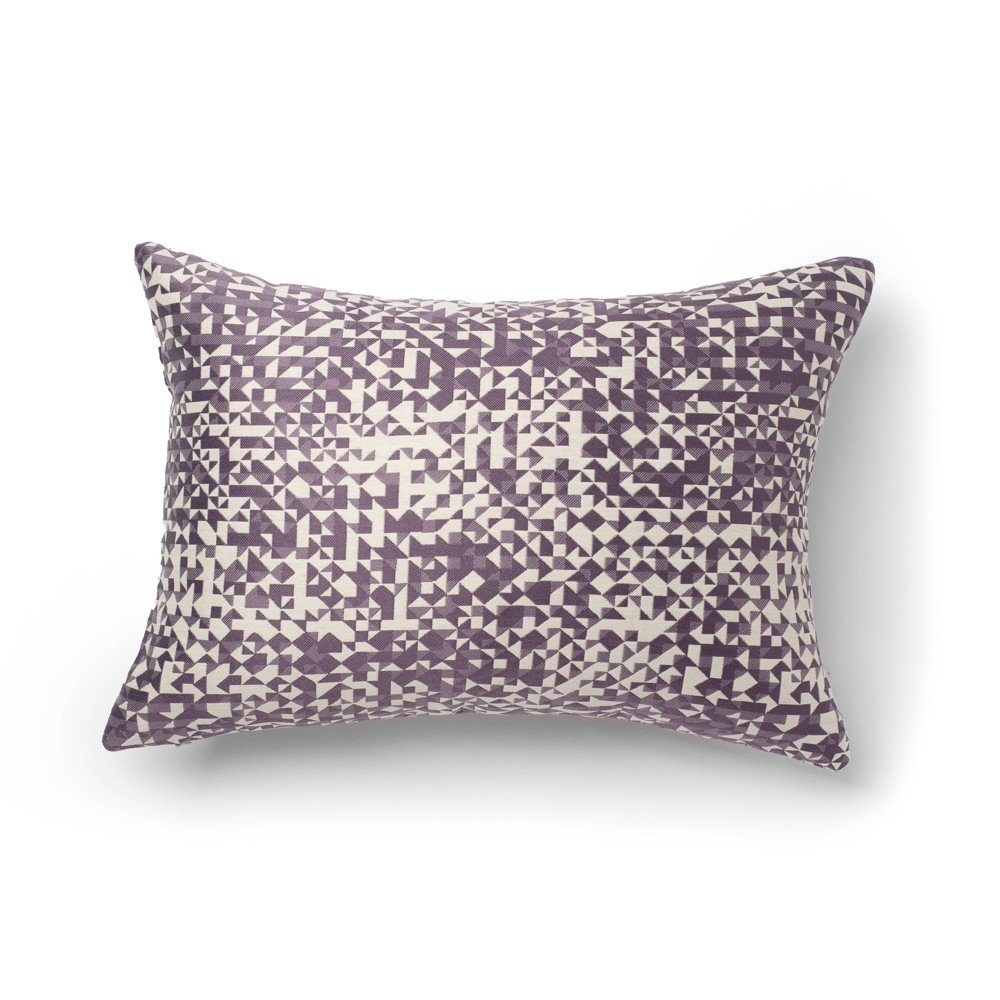 "Image of ""14""""x20"""" Moria Jacquard Decorative Throw Pillow Purple - SureFit"""