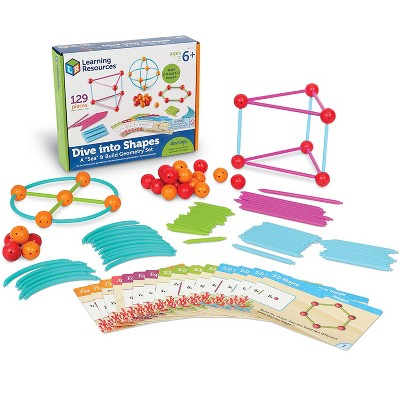 Learning Resources Dive Shapes Sea/Build Geometry Set