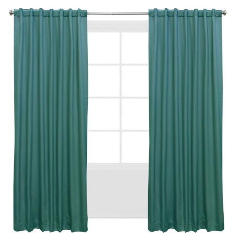 Shantung Blackout Window Curtain Panels - Skyline Furniture - image 1 of 4
