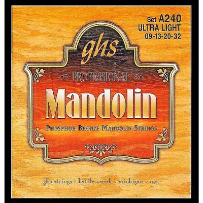 GHS Phosphor Bronze Mandolin Strings Ultra Light