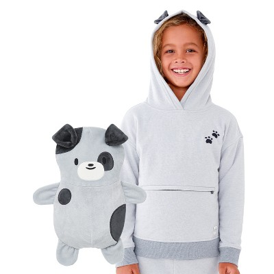 Cubcoats Kids Pimm the Puppy 2-in-1 Stuffed Animal & Hooded Pullover Sweatshirt